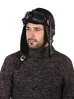 Шапка-шлем меховый черный