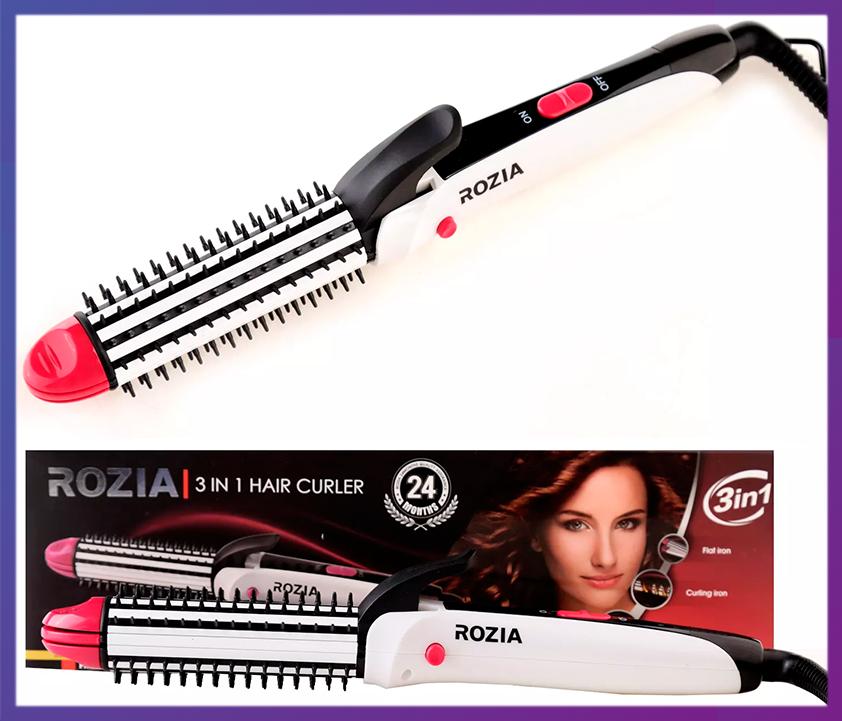Многофункциональный плойка-утюжок для волос 3 в 1 Rozia HC-7330
