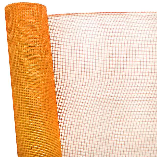 Сетка флористическая Normal mesh 6,5 м оранжевая с золотом