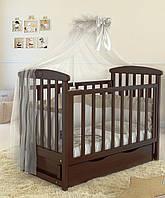 """Детская кроватка  Angelo Lux -7 """"тёмный орех"""""""