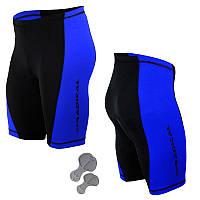 Велошорти, велотруси з памперсом Radical Racer Pro чорний/синій (racer-pro-blue) -