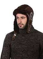 Шапка-шлем меховый коричневый