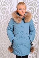 Мама + дочь. Зимняя куртка для девочки Вика-дочка (128-146 см)