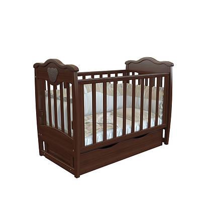 """Детская кроватка Angelo Lux -5 """"темный орех"""", фото 2"""