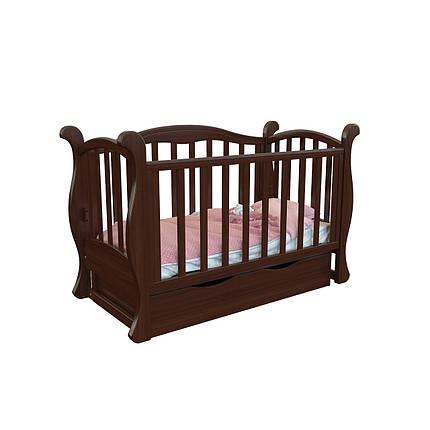 """Детская кроватка-диван Angelo Lux - 6  """"тёмный орех"""", фото 2"""