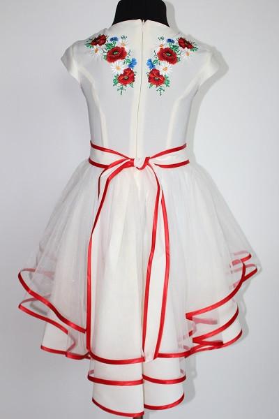 Вишите плаття для дівчинки  Орися молочне  продажа dbc8703ea5cfc