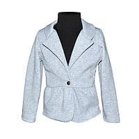 Пиджак для девочки трехнитка
