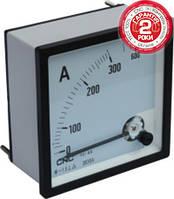 Амперметр аналоговый YC-А72, 100/5А, 72x72мм, АС, класс 0,5, подключение через трансформатор тока, CNC