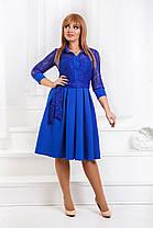 ДС471  Платье клеш в расцветках размеры 42-56, фото 2