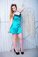 Симпатичная женская ночная рубашка бирюзового цвета 42-50