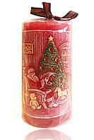 """Свеча арома новогодняя """"Дед Мороз"""" красная 450 грамм"""