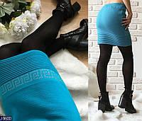 Женская юбка мини шерсть