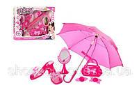 Набор аксессуаров для девочки Маленькая кокетка обувь, зонт, сумочка