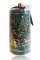 """Свеча арома новогодняя """"Дед Мороз"""" зелёная 450 грамм"""