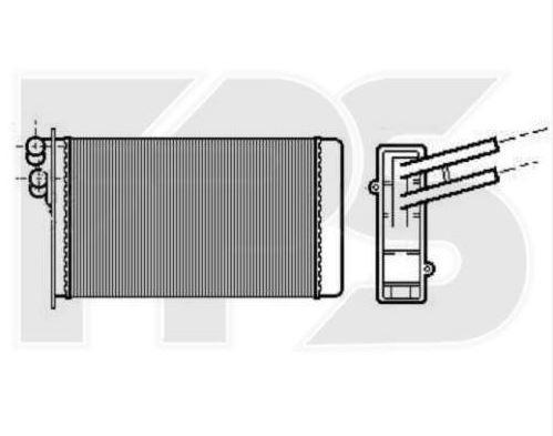 радиатор печки audi80 купить в украине