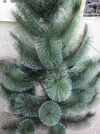 Новогодняя искусственная сосна  с инеем  темно-зеленая 2.1 метра, фото 2