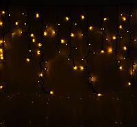 Гирлянда Бахрома 5м - цвет свечения желтый - светодиодная уличная гирлянда (Айс-Лайт) - 120 led ЛЭД