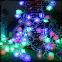 Гирлянда Бахрома, «Ежики», Мульти, 2,8 x 0,6 LED