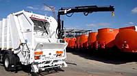 Мусоровозы с краном для подземных контейнеров HIDROMAK
