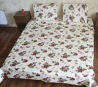 Полуторное постельное белье Бязь-Роза бабочка (классика)