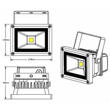 Светодиодный прожектор LEDEX 30W, фото 2