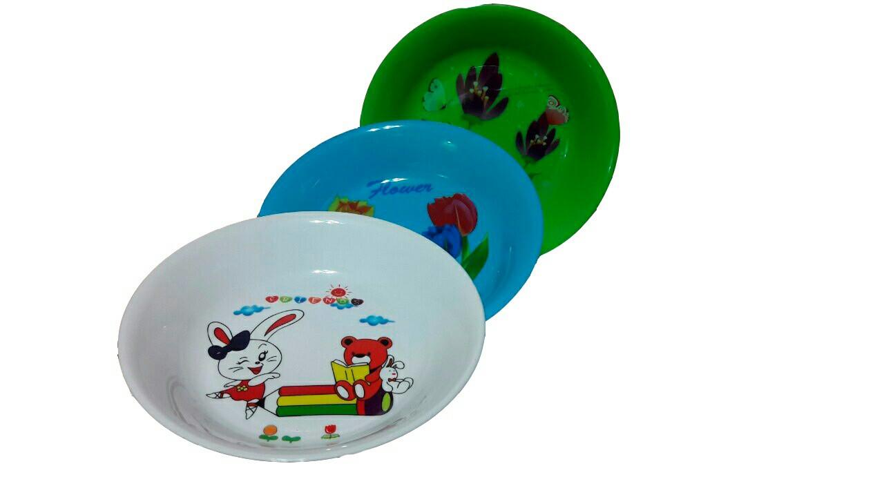 Пластиковая тарелка диаметром 180мм.с рисунком