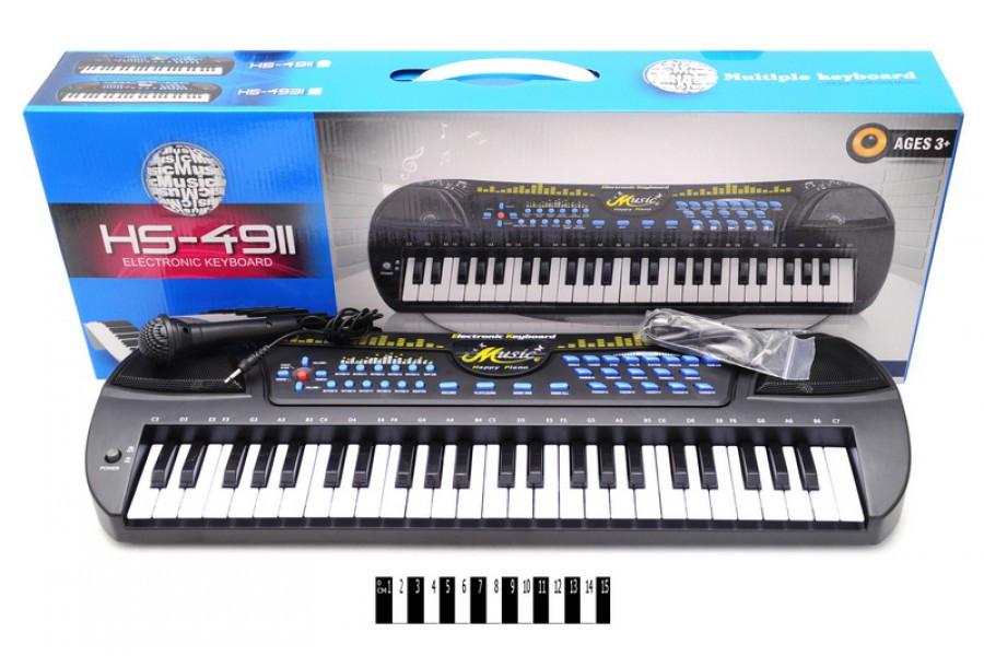 Детский синтезатор с микрофоном HS4911, пианино