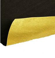 ИТАЛЬЯНСКАЯ ГОФРИРОВАННАЯ БУМАГА CARTOTECNICA ROSSI металлик Золото+черная 50X250 см N801/7