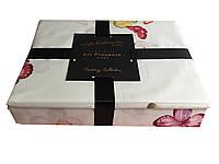 Комплект постельного белья из Египетского хлопка с бабочками, фото 1