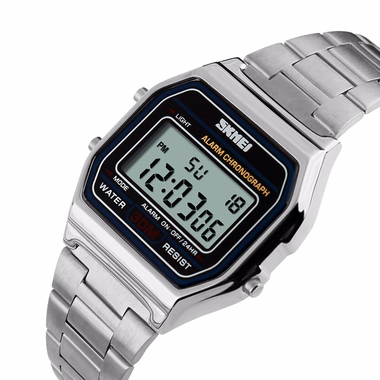 Мужские классические часы Skmei 1123 серебристый