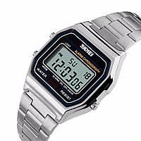 Мужские классические часы Skmei 1123 серебристый, фото 1
