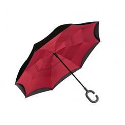 Зонт наоборот up-brella Бордовый