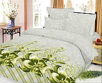 Комплект постельного белья Цветок оливковый 1,5