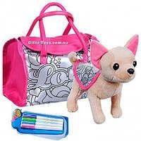 Собачка в сумке Кикки М 3643 Раскрась меня с фломастерами