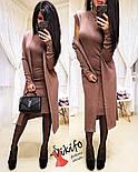 Жіночий модний комплект-двійка: плаття і кардиган з ангори (5 кольорів), фото 2