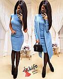 Жіночий модний комплект-двійка: плаття і кардиган з ангори (5 кольорів), фото 3