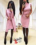 Жіночий модний комплект-двійка: плаття і кардиган з ангори (5 кольорів), фото 10