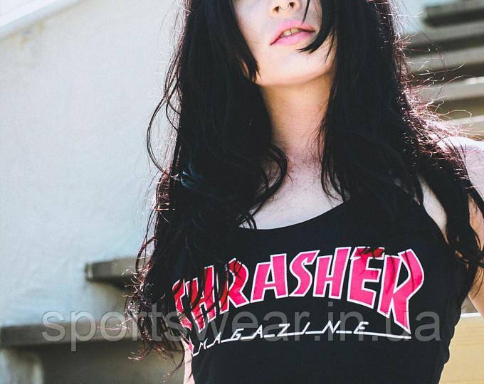 "Футболка Thrasher женская | Трешер Футболка """" В стиле Thrasher """""
