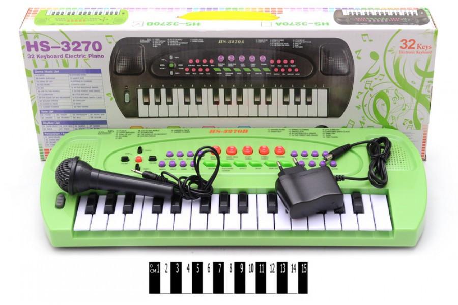 Детский синтезатор с микрофоном HS3270В, пианино