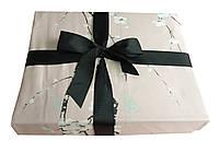 Пудровое постільна білизна з сакурою з Єгипетської бавовни євро розміру, фото 1