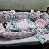 Защита + кокон + конверт + постельное + ортопедическая подушка, фото 1