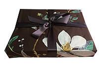 Шоколадный набор белья из Египетского хлопка евро размера с Орхидеями