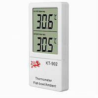 Термометр с двумя датчиками кт-902, измерение температуры в комнате и в аквариуме, жк-дисплей