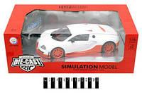 """Машина колекц. """"Bugatti"""" бiла 1:18 метал-пластик (повне радіо, акум. ) JT043 р. 35*19,5*13 см"""