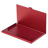 Визитница карманная, алюминий, красная, от 100 шт
