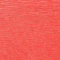 Креп-бумага (гофрированная бумага) Лососево-розовая (коралл) 50X200 см N10 Польша 30-40 грамм