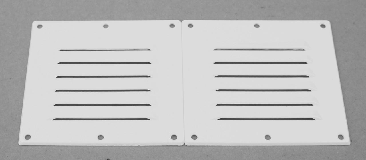 Решётка вентиляционная,белый пластик 118X256MM С14401W