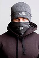 Зимняя шапка + баф North Face