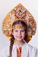 Кокошник Боярский, карнавальный головной убор / BL - ВК8