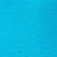 Креп-бумага (гофрированная бумага) 50X200 см Аквамариновая N19 Польша 30-40 грамм